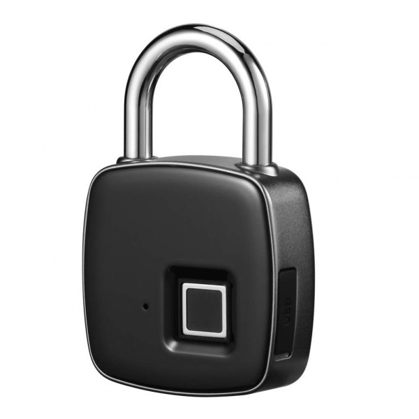 Farsler Fingerprint Padlock Waterproof Keyless Anti-Theft Padlock, Suitable for Door, Cabinet, Backpack, Cargo, Bike, Luggage, Support USB Charging
