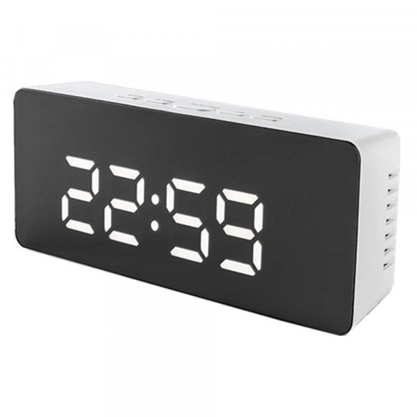 Farsler  Digital Light Alarm Clock Indoor Clock for Bedroom, Battery and USB Cable Operated