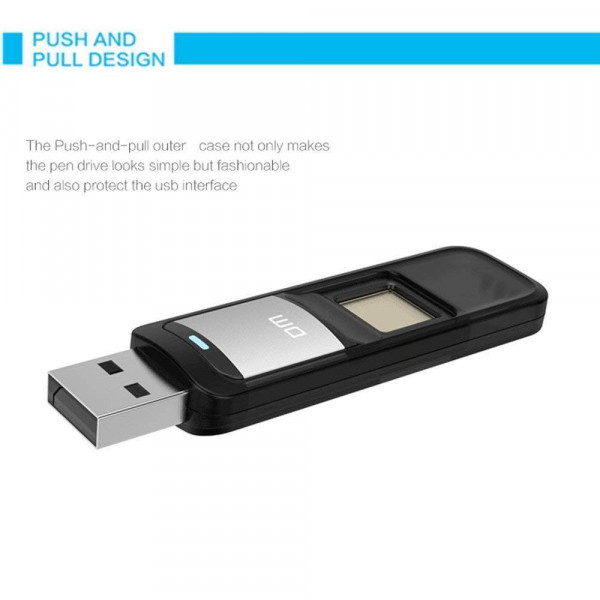 DM Fingerprint Encrypted Pen Drive Dual ...