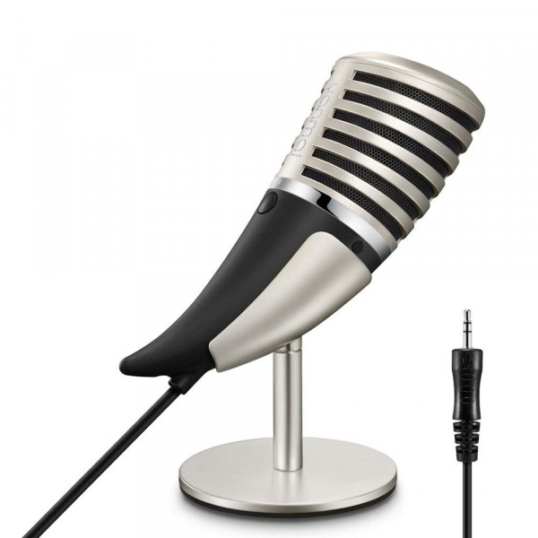 Farsler Metal Design Condenser Microphone, Yanmai Studio Condenser Recording Microphone for Broadcast and Record Podcasts, YouTube Videos & Work Presentations (3.5mm Plug)