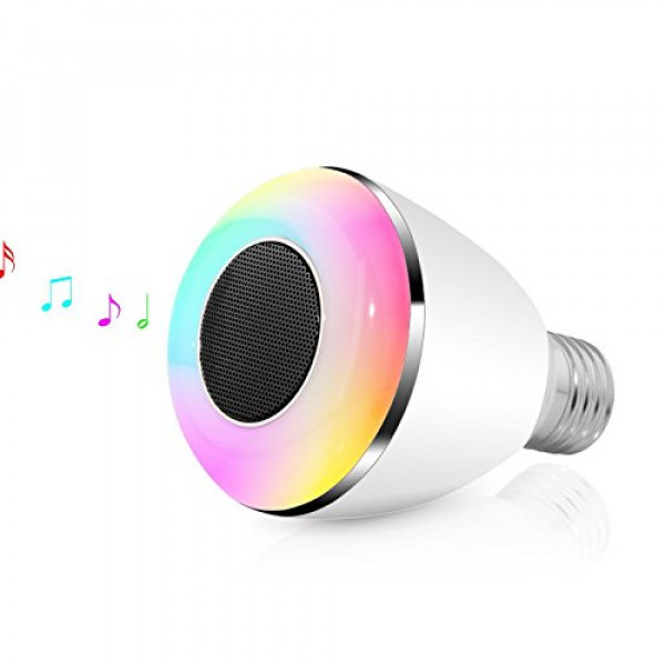Farsler BL08A Wireless Bluetooth 4.0 Speaker Smart LED Light bulb Smartphone Controlled Dimmable Multicolored Color Changing Lights Works with iPhone Android Phone and Tablet